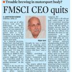 FMSCI CEO quits
