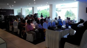 Driver's Briefing at Infinity Cars Showroom